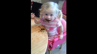 Cute Little Girl Denies Eating Chocolate - Video