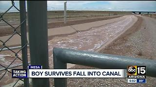 11-year-old stuck in Mesa canal during storm - Video