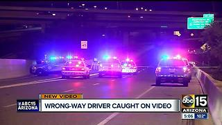Wrong-way driver caught on video as friends of victim mourn