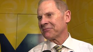John Beilein addresses reporters after Michigan's National Championship loss