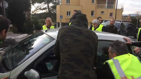 Man Drives Into Police Officer as Protests Turn Violent in France