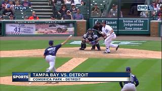 John Hicks' bunt lifts Detroit Tigers to 3-2 win over Tampa Bay Rays in 12 innings - Video