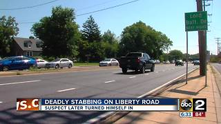 Man stabbed multiple times after being struck by car on Liberty Road - Video