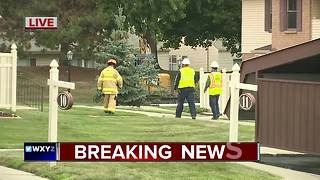 Gas leak in Northville Township - Video