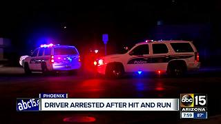 Driver arrested after pedestrian collision in Phoenix, impairment suspected - Video