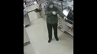Video shows armed robbery suspect in Waterford Twp. - Video