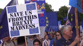 Europe against Brexit protest in London, UK - Video