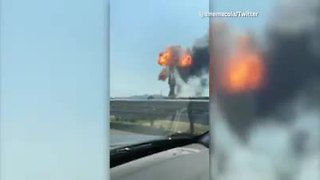 Highway explosion in Italy