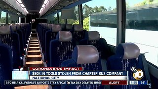 $50k in tools stolen from charter bus company