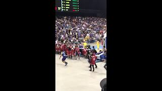 Ugly fight between Philippines and Australia basketball players filmed by spectator - Video