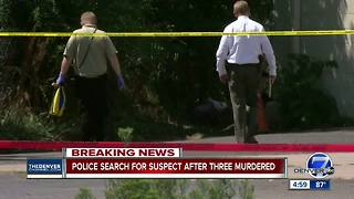 Police say 3 adults found dead near Broadway and I-25 appear to be homeless; investigation underway - Video