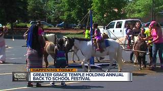 Greater Grace Temple holding back to school fest - Video