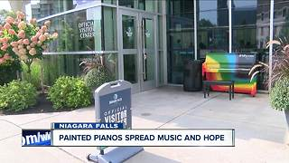 Niagara Falls spreads hope and music through painted street pianos