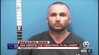 Man arrested for threatening to kill Martin County Sheriff - Video