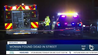 Woman found dead in street