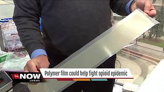 Polymer film developed by University of Akron research team could help fight opioid epidemic - Video