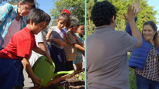 Low-Income Students Get To Plant Seeds Of Change In This New Community Garden - Video