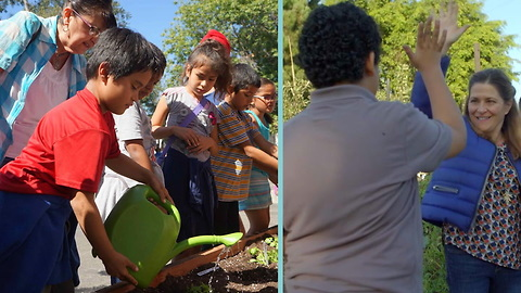 Low-Income Students Get To Plant Seeds Of Change In This New Community Garden