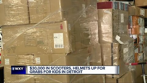 $30K in scooter, helmets up for grabs for kids in Detroit