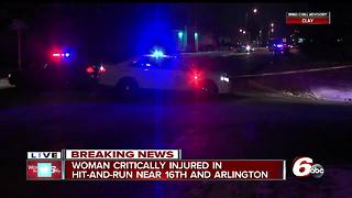 Woman critical after hit-and-run crash on Indianapolis' east side - Video