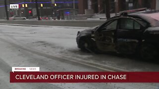 Cleveland police officer, teen injured in crash during pursuit with vehicle connected to kidnapping