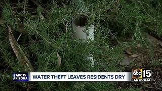 Mesa residents left without water after someone stole pipes - Video