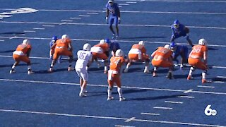 Boise State hosts spring scrimmage in front of fans at Albertsons Stadium