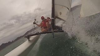 Hilarious Sailing Fail: Boat Tips Over - Video