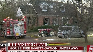 House Fire Shuts Down Part Of Battery Lane - Video