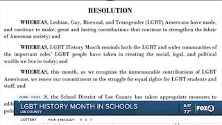 Lee County Schools to discuss LGBT history month