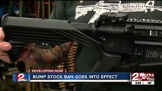Bump stock ban goes into effect