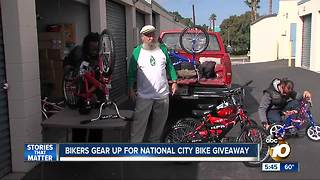 Bikers gear up for South Bay bike giveaway - Video