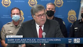 William Barr explains police and voting concerns