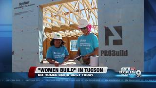 Hundreds of women volunteer to build affordable housing - Video