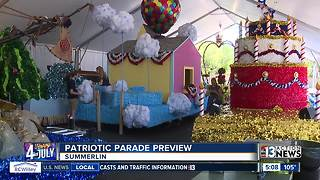 Volunteers getting floats ready for parade - Video