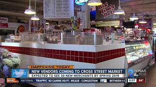 New vendors coming to Cross Street Market