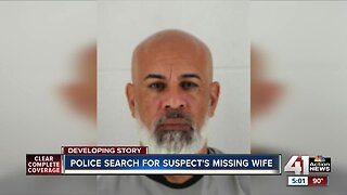 Police search for suspect's missing wife