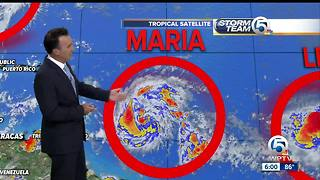 Tropical Storm Maria forms in the Atlantic - Video