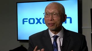Foxconn official on autonomous driving lanes - Video