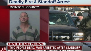 Man arrested after two peole died from house fire in Eufaula - Video