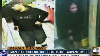Man robs same PHX restaurant twice in a week - Video