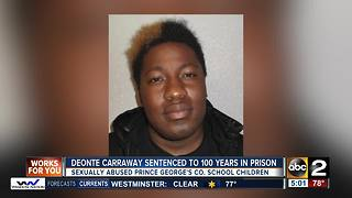 Former school aide sentenced to 100 years in prison for sexually abusing students - Video