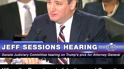 Ted Cruz Jeff Sessions Hearing