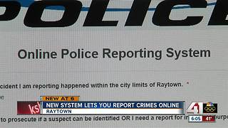 Raytown PD launches new online crime reporting system - Video