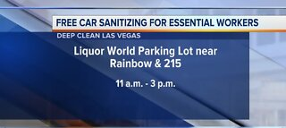 Free car sanitizing for essential workers