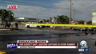 Jewelry store robbery in Jensen Beach ends with suspect shot