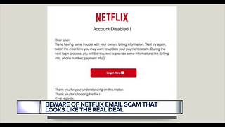Beware of Netflix email scam that looks like the real deal - Video