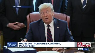 Hagel on Trump: He's Corrupt, Incompetent