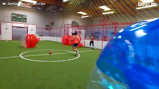 Have you ever played bubble football? 1