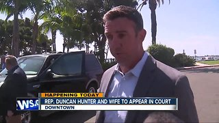 Hunter, wife could learn trial date at hearing